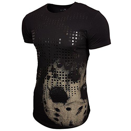 Rusty Neal Skull T-Shirt Herren Design Swag Style Fashion Vintage Look 15087 Neu Schwarz