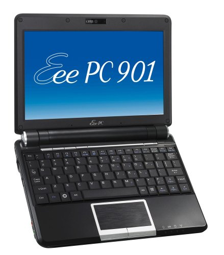 Asus Eee PC 901 Go Linux schwarz 22,6 cm (8,9 Zoll) WSVGA Netbook (Intel Atom N270 1,6GHz, 1GB RAM, 16GB HDD, UMTS/HSDPA, Linux) Wsvga Eee Pc