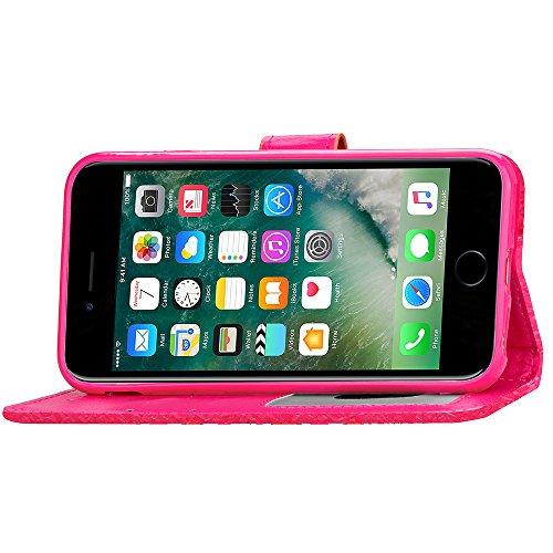 Voguecase® Pour Apple iphone 7 Plus 5,5 Coque, Étui en cuir synthétique chic avec fonction support pratique pour iphone 7 Plus 5,5 (motif lumineux-Vert)de Gratuit stylet l'écran aléatoire universelle motif lumineux-Rose