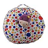 LY-LD Kindergestecke Bean Tasche Stuhl Plush High Kapazität Leinwand-Material für die Aufbewahrung von Plüschspielzeug, Kleidung, Handtücher,B,16inch