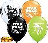 Qualatex 18684WC Star Wars Darth Vader und Yoda rund Special Sortiment, 28cm