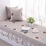 KIAYI Quatre Saisons Baie Fenêtre Coussin, Machine Lavable Chambre Tatami Antidérapant Balcon Mat Moderne Simple,Gray,90x180cm(35x71inch)