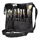 HENGSONG 22 Fächer Professionelle Make Up Pinsel Tasche Huefttasche Pinseltasche Kosmetiktasche (ohne Pinsel)