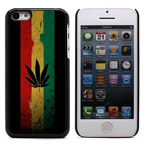 Graphic4You Keep Calm and Smoke Weed Marihuana Design Harte Hülle Case Tasche Schutzhülle für Apple iPhone 5C Design #6