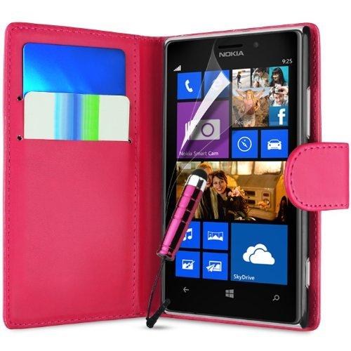 Nokia Lumia 930Buch Wallet PREMIUM PU Leder Flip Tasche Hülle plus Mini-Stylus-Eingabestift, Displayschutzfolie und Reinigungstuch