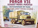 SDV LKW Truck Praga V3S Pritschenwagen mit Plane Kunststoff Modellbausatz 1:87 H0