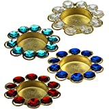 Diwali Diya Lights Candle Holder Home Decoration, Set Of 4 Sold By Anand Home Decore