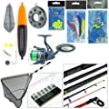 Sea Fishing Kit with Travel Rod & Reel. Includes Sea Fishing Rod, Reel, Net & Tackle. Everything You Need For Fishing From Beach, Pier or Rocks. from Roddarch