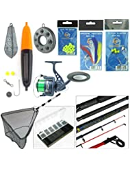 Hunter Pro Complete Sea Fishing Kit 10ft Telescopic Rod HP60S Reel Tackle Net