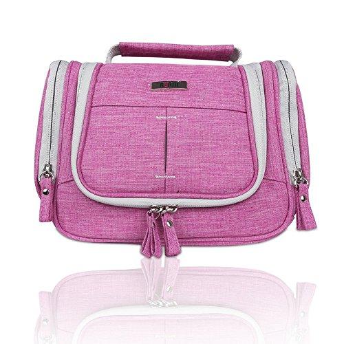 Reise-wäsche-seife (BUBM Reisenthel Kulturtasche zum Aufhängen Große Reise-Kulturtasche Kosmetiktasche mit Henkel ,Rose Rot)