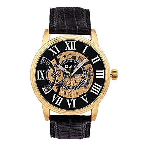 Preisvergleich Produktbild SHOUBIAO® Uhr Auszeichnungen Memorial Geschäft Geschenk Personal Profitiert Männer Lederarmband Zeiger Bewegung 46 Mm Leuchtende Mechanische Uhren , G