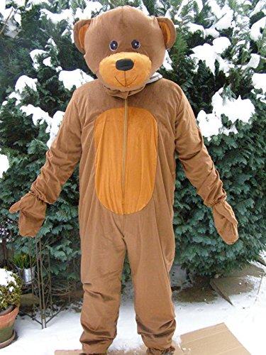 Teddy Bär Karnevalskostüm Maskottchen Kostüm Faschingskostüm Junggesellenabschied Apres Ski (Bären Anzug Maskottchen)