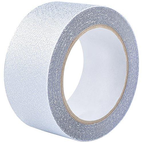 Irich 5M × 5CM Selbstklebend Wasserfest PEVA Antirutschband, Antislip Sicherheitsband, Rutschschutz für Bad Dusche Treppen Teppich Beläge, Baby/älteren /Pet Sicherheit