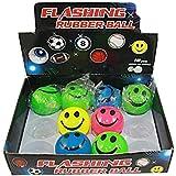 12 x LED Springball, 5cm, mit Blinklicht, Flummiball