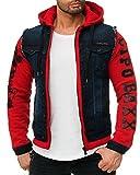 Cipo & Baxx Herren Jeans Jacke Rot S inkl. Cipo Tasche