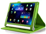 IVSO Lenovo Yoga Tab 3 Plus 10.1 Cover Custodia - Slim-Book Case Custodia Protettiva in pelle PU per Lenovo Yoga Tab 3 Plus 10.1 Tablet, Verde