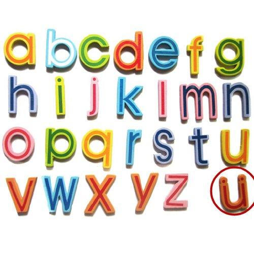 27 Kleinbuchstaben Holz Magnets Für das Lernen Infant Kleinkind Spielzeug