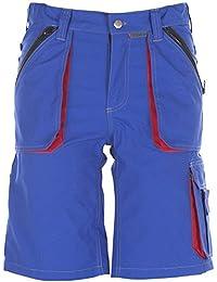 Planam Shorts Basalt, größe M, kornblau / rot / mehrfarbig, 2841048