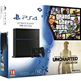 Console PlayStation 4 1 To Jet Black + GTA V + Uncharted : The Nathan Drake Collection