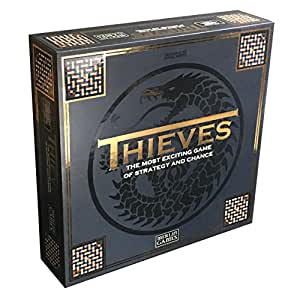 Merlin Games Thieves Board Game with Dice Cup