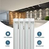 4 Stück 60CM LED Leuchtstoffröhre komplett-Set, Leuchtstofflampe 10W 4000K Naturweiß 1000 Lumen 18Watt-Ersatz, Deckenleuchte Unterbauleuchte Schranklicht, Montagefertig, Aufklebar, klar