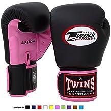 Twins Special BGVL-3 - Guantes de Muay Thai, hombre Unisex mujer Infantil, color Air Flow -Pink/black, tamaño 12 onzas