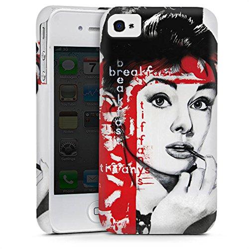Apple iPhone 5s Housse Étui Protection Coque Audrey Hepburn Dessin Femme Cas Premium mat