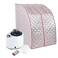 Fdit 2L Inflables Plegables Steamer Portátil Sauna SPA Hogar Tienda Pot Máquina Adelgazar Terapia de Pérdida de Peso Socialme-EU(EU 220V)