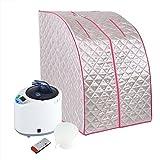 Dampfsauna Maschine und Zelt Tragbar Faltbar Dampfbad 2L Zuhause für Persönliche Gesundheitsvorsorge Gewichtsverlust Therapie(220v)
