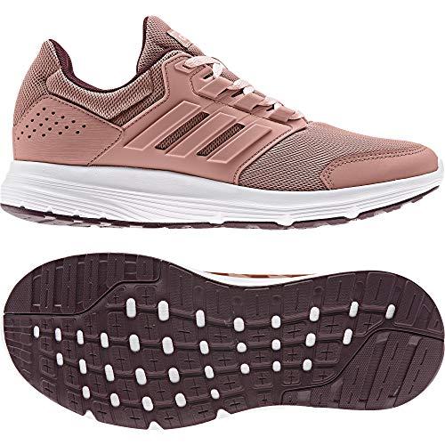 Fahrt 4 Schuhe (adidas Damen Galaxy 4 Laufschuhe, Raw Pink/Maroon, 38 EU)