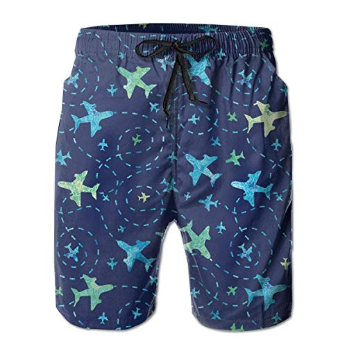 Fit Swim Trunks Big &Tall Half Pants for Boys Mens, Loose Quick Dry Swimwear Large -