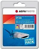 AgfaPhoto APHP344CDUO - Pack de 2 cartuchos de tinta, 2x21 ml, multicolor