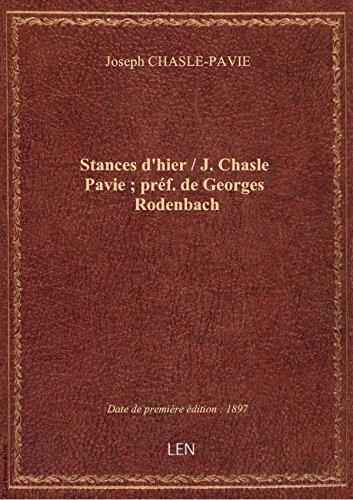 stances-dhier-j-chasle-pavie-pref-de-georges-rodenbach