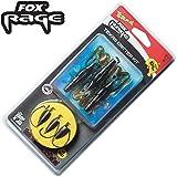 Fox Rage Rage Texas Critter Kit 1m 0,22mm 3,53kg 7g Gr. 1/0- 3 Rigs zum Spinnfischen auf Zander & Barsch, Texasrig zum Spinnangeln