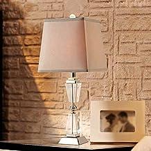 ANDEa Lámpara de mesa American Country Dormitorio Lámpara de cabecera Living Room Decoration Lámpara de mesa de cristal Originalidad