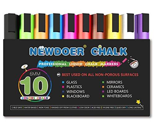 newdoer-liquid-chalk-pens-10-color-bright-neon-liquid-chalk-marker-pen-set-child-friendly-perfect-fo