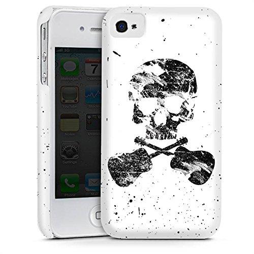 Apple iPhone 4 Housse Étui Silicone Coque Protection Un poète mort Tête de mort Crâne Cas Premium mat