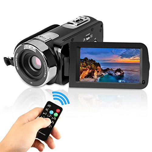 PowerLead Puto PLD009 - Video-Camcorder, Digital-Kamera, 6,9 cm (2,7 Zoll) LCD-Bildschirm, Nachtsichtfunktion, 24 MP, HD
