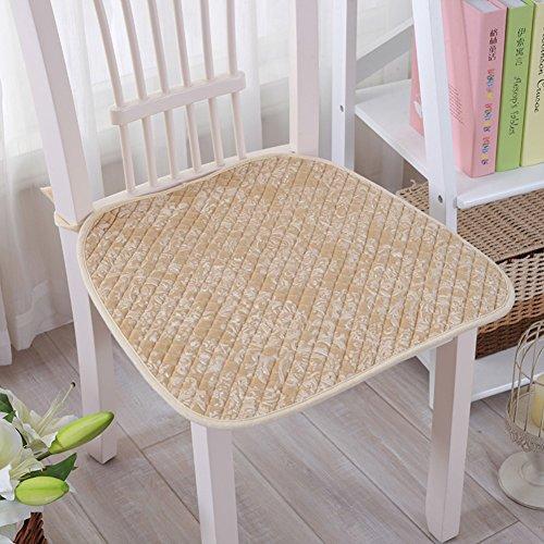 Gesteppte Stuhl-pads (xinping Chair Pads Stuhl Pad/Anti-Rutsch Kissen, gesteppt,/Auto Sitzkissen/Esszimmerstuhl Cushion-a 40x 40cm (40,6x 40,6cm))
