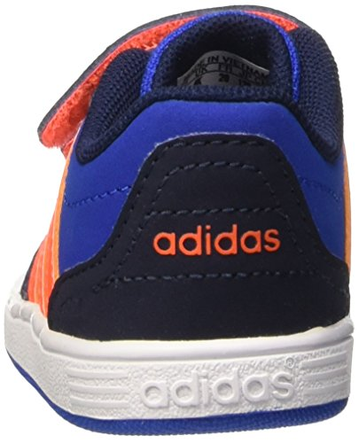 adidas Vs Hoops Cmf Inf, Chaussures pour Premiers Pas Garçon Multicolore - mehrfarbig (Blue/Sorang/Conavy)