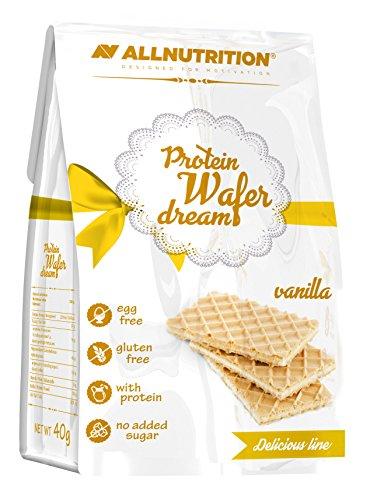 High-protein-mahlzeit-ersatz-shakes (Protein Wafer Dream Snack Waffeln Proteine Diät Nahrungsergänzungsmittel 40g Vanilla)
