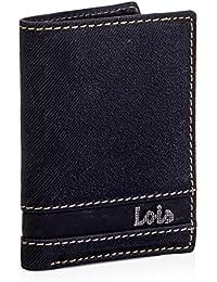 LOIS - 11518 Cartera Monedero Billetero Tarjetero hombre de piel. Portamonedas interior con cremallera. 6 compartimentos tarjetas y documentación. 2 para billetes