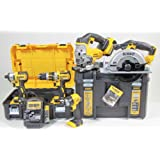 DeWalt DCK550M3T-GB 18V 5-Piece Lithium Ion Cordless Power Tool Set with 3 x 4Ah Batteries