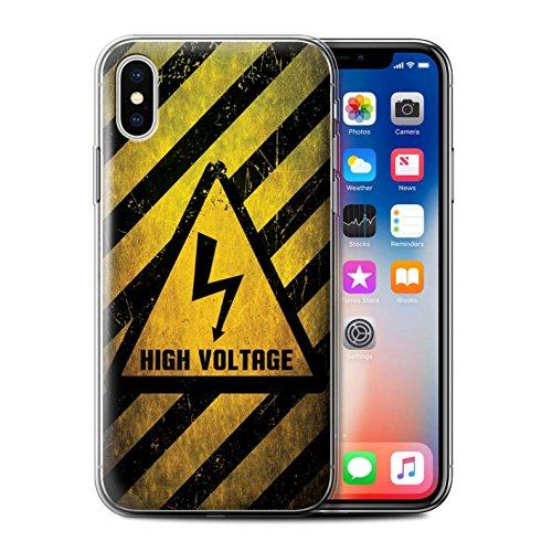 Coque Gel TPU de STUFF4 / Coque pour Apple iPhone 7 / Toxique/Crâne Design / Signes de Danger Collection électricité