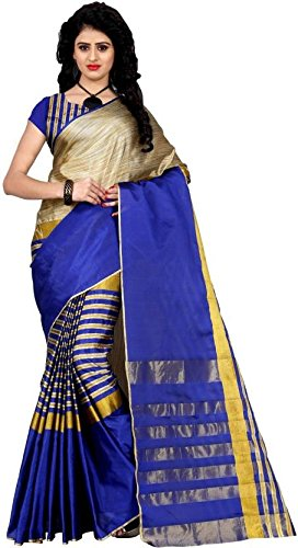 Being Banarasi Women's Tussar Silk Cotton Saree(BB_Arun_Blue)