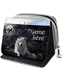 Personalised Ladies Purse WOLF FANTASY Long Coin Card Wallet Womens Gift KS28