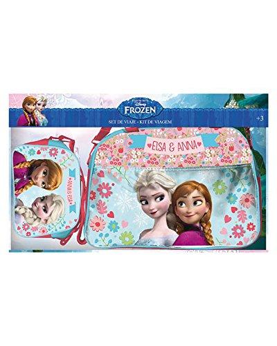 Disney – Set Bolsa Viaje y Neceser Bandolera Frozen, Multicolor (Astro Europa AST0211)
