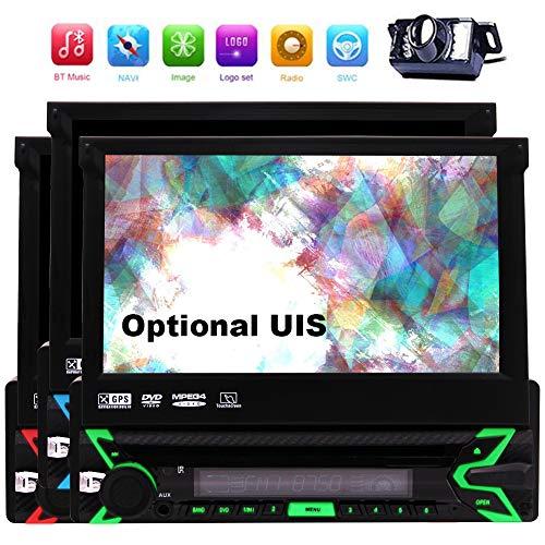 EINCAR freies Geschenk hintere Kamera 8GB Karte Radio Stereo-1 din Auto 7inch DVD-Spieler GPS-Navigation in Dash Autoradio Bluetooth Musik-CPU 256M RAM 128 MB ROM-Steuergerät Abnehmbare Frontseit Mpg, Ipod Video