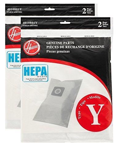 Hoover Typ Y HEPA Filter Tasche, Set von 2 4 Bags Weiß