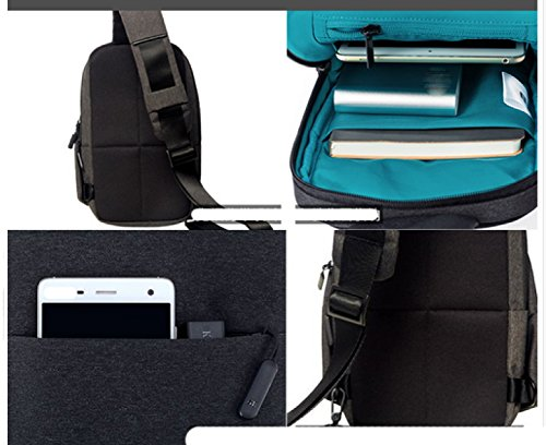 LAIDAYE Männer Casual Schulter Diagonal Multifunktionales Sport Rucksack Business-Paket Schultertasche Tasche Brust 2